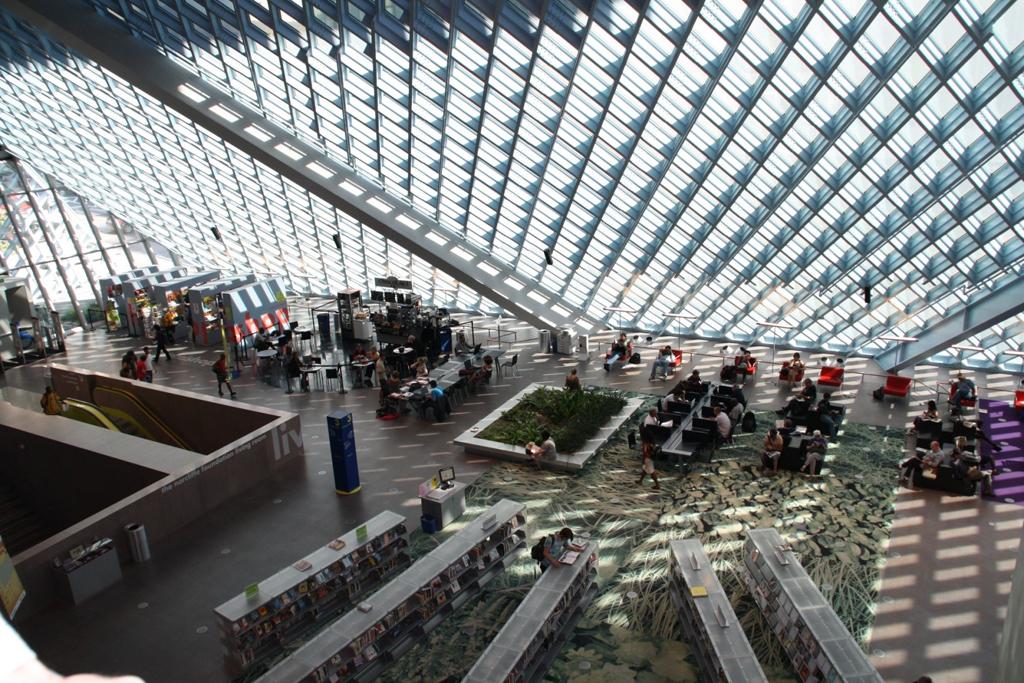 «Гостиная» в публичной библиотеке Сиэтла