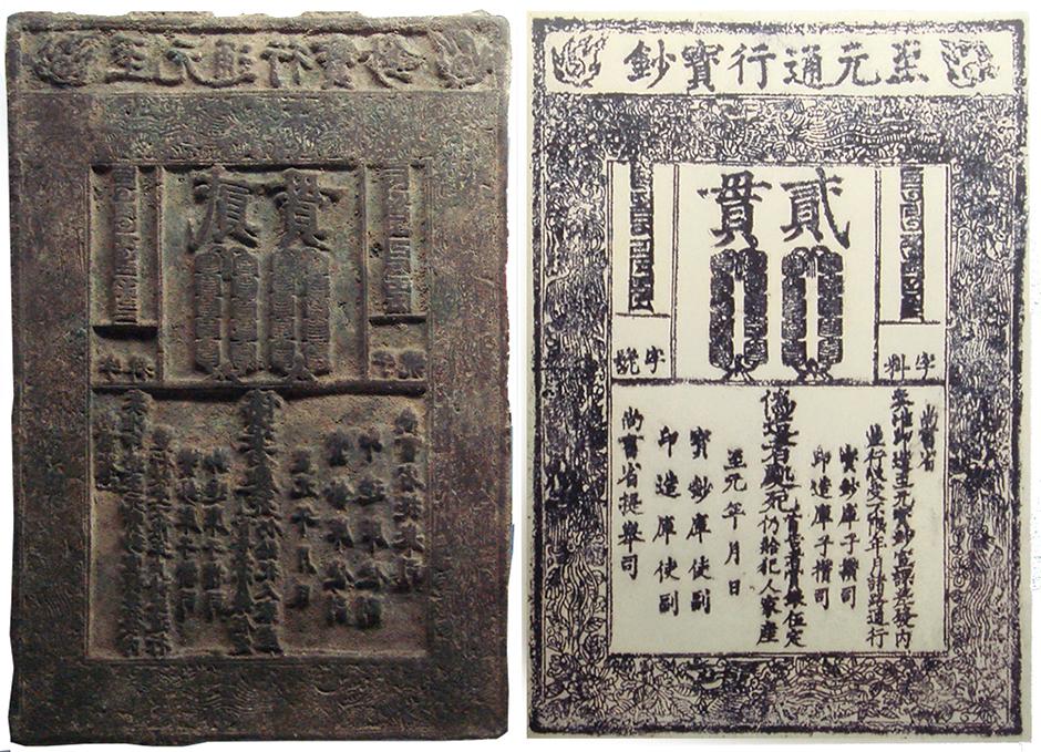 Китай, 1287 год, ксилография и исходная форма