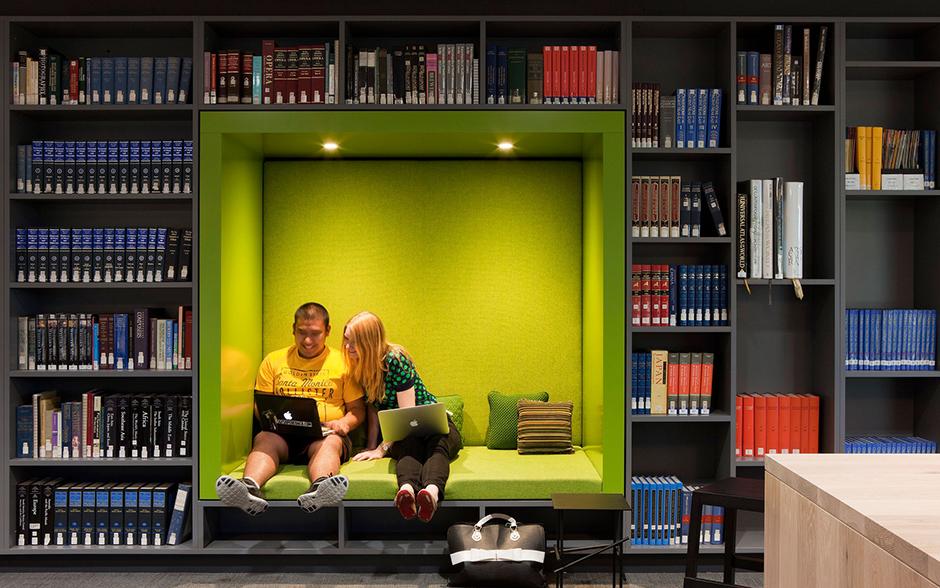 Библиотека Австралийского католического университета.(фото с сайта http://www.woodsbagot.com/project/australian-catholic-university-raheen-library)