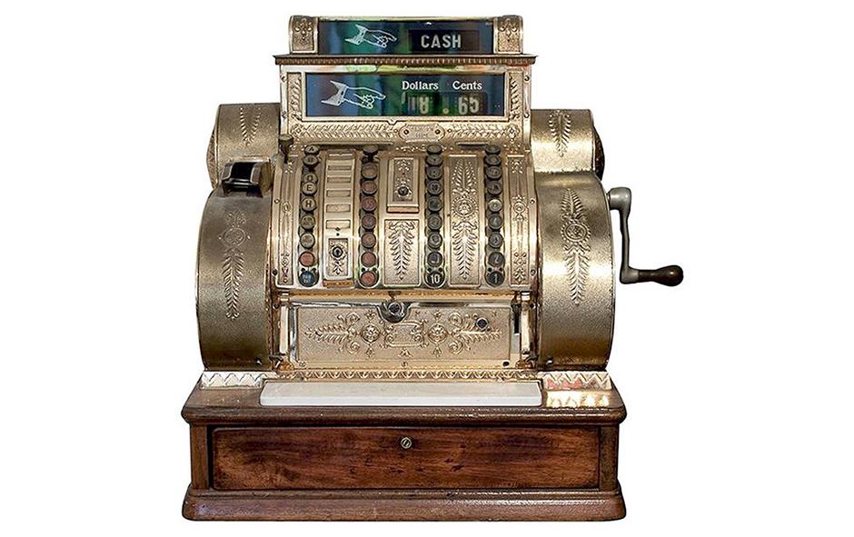Первый механический кассовый аппарат Джеймса Ритти