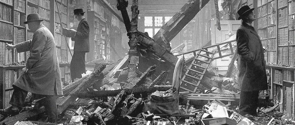 f26be9b077f6 Holland House library after an air raid, London, 1940. Вторая мировая война  ...